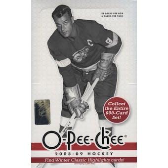 2008/09 Upper Deck O-Pee-Chee Hockey Hobby Box