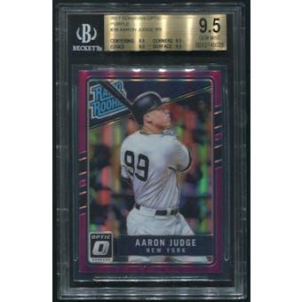 2017 Donruss Optic Baseball  #38 Aaron Judge Purple Rated Rookie BGS 9.5 (GEM MINT)