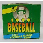 1990 Fleer Baseball Jumbo Box (Reed Buy)