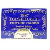 1987 Topps Tiffany Traded & Rookies Baseball Factory Set (Reed Buy)