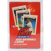 1991 Line Drive Triple A (AAA) Baseball Wax Box (Reed Buy)