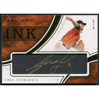 2016 Immaculate Collection #14 Jose Fernandez Immaculate Ink Auto #19/25