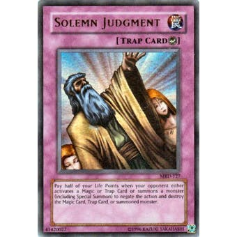 Yu-Gi-Oh Metal Raiders Single Solemn Judgment Ultra Rare (MRD-127)