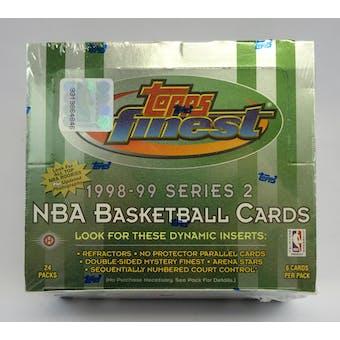 1998/99 Topps Finest Series 2 Basketball Hobby Box (Reed Buy)
