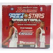 2007/08 Bowman Draft Picks & Stars Basketball Hobby Box (Reed Buy)