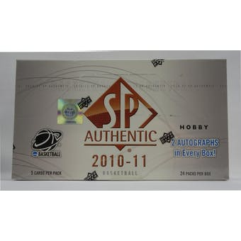 2010/11 Upper Deck SP Authentic Basketball Hobby Box (Reed Buy)