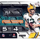 2019 Panini Playbook Football 4-Pack Mega Box
