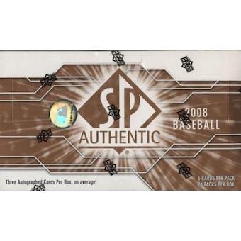2008 Upper Deck SP Authentic Baseball Hobby Box