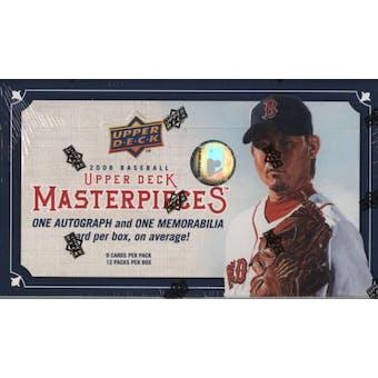 2008 Upper Deck Masterpieces Baseball Hobby Box