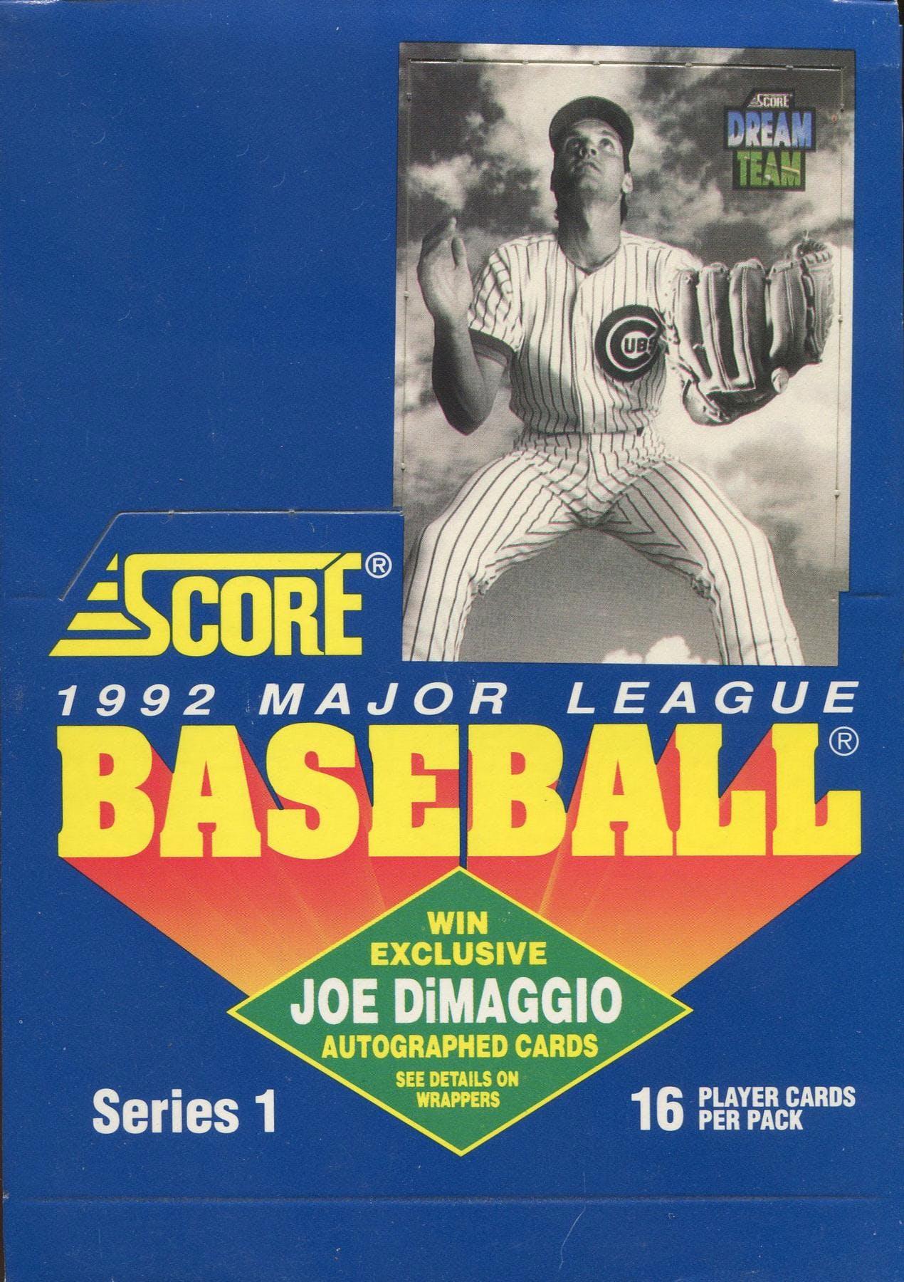 1992 Score Series 1 Baseball Wax Box Da Card World