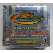 1998 Topps Finest Series 2 Baseball Hobby Box (Reed Buy)
