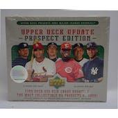 2005 Upper Deck Update Prospect Edition Baseball Hobby Box (Reed Buy)