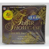 1999 Fleer Flair Showcase Football Hobby Box (Reed Buy)