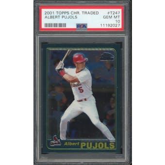 2001 Topps Chrome Traded #T247 Albert Pujols PSA 10 *2027 (Reed Buy)