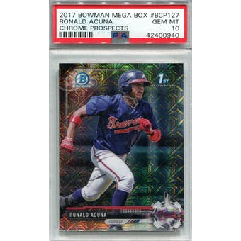 2017 Bowman Mega Box Chrome #BCP127 Ronald Acuna PSA 10 *0940 (Reed Buy)
