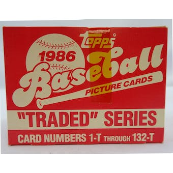 1986 Topps Traded Baseball Factory Set Tape Intact (Reed Buy)