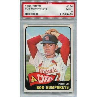 1965 Topps #154 Bob Humphreys PSA 9 *9489 (Reed Buy)
