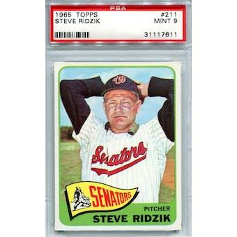 1965 Topps #211 Steve Ridzik PSA 9 *7611 (Reed Buy)