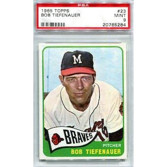 1965 Topps #23 Bob Tiefenauer PSA 9 *5284 (Reed Buy)
