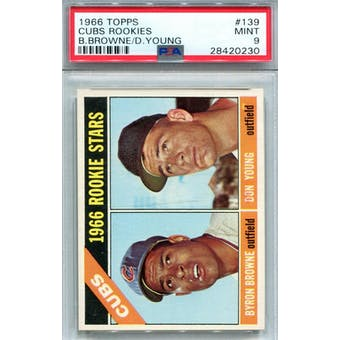 1966 Topps #139 Cubs Rookies PSA 9 *0230 (Reed Buy)