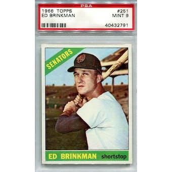 1966 Topps #251 Ed Brinkman PSA 9 *2791 (Reed Buy)