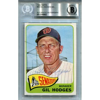 1965 Topps #99 Gil Hodges BAS Auto Authentic *6902 (Reed Buy)