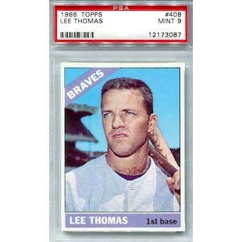 1966 Topps #408 Lee Thomas PSA 9 *3087 (Reed Buy)