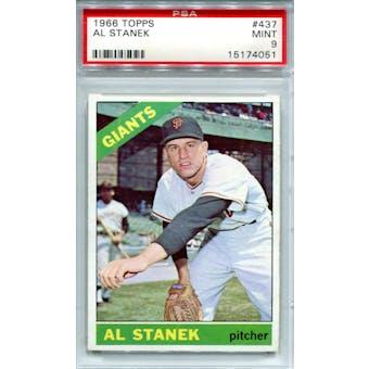 1966 Topps #437 Al Stanek PSA 9 *4051 (Reed Buy)