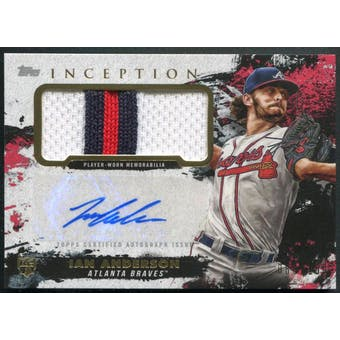 2021 Topps Inception #APCIA Ian Anderson Rookie Patch Auto #080/150