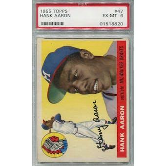 1955 Topps #47 Hank Aaron PSA 6 *8820 (Reed Buy)