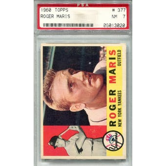 1960 Topps #377 Roger Maris PSA 7 *3020 (Reed Buy)