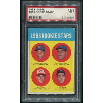 1963 Topps Baseball #537 Pete Rose Rookie PSA 5 (EX)