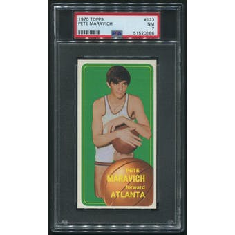 1970/71 Topps Basketball #123 Pete Maravich Rookie PSA 7 (NM)