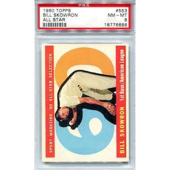 1960 Topps #553 Bill Skowron AS PSA 8 *6666 (Reed Buy)