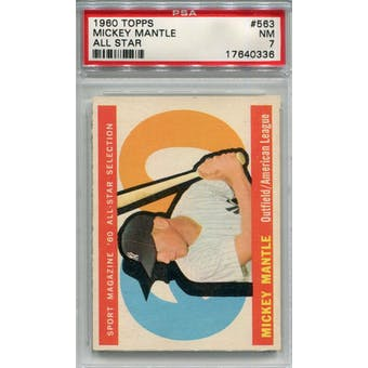 1960 Topps #563 Mickey Mantle AS PSA 7 *0336 (Reed Buy)
