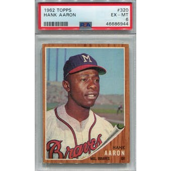 1962 Topps #320 Hank Aaron PSA 6 *6944 (Reed Buy)