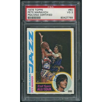 1978/79 Topps Basketball #80 Pete Maravich Auto Signed Pistol Pete PSA/DNA