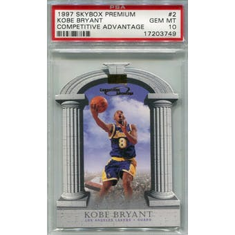 1997/98 Skybox Premium Competitive Advantage #2 Kobe Bryant PSA 10 *3749 (Reed Buy)