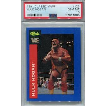 1991 Classic WWF #123 Hulk Hogan PSA 10 *1805 (Reed Buy)