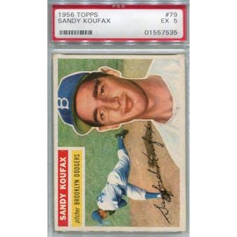 1956 Topps #79 Sandy Koufax WB PSA 5 *7535 (Reed Buy)