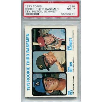 1973 Topps #615 Mike Schmidt RC PSA 7 *0221 (Reed Buy)