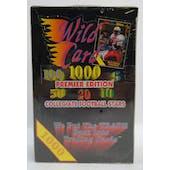 1991 Wild Card Collegiate Football Premier Edition Hobby Box (Reed Buy)