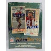 1993 Fleer Game Day Football Hobby Box (Reed Buy)