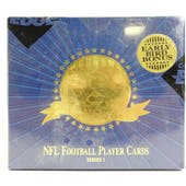 1996 Collector's Edge Presidents Reserve Series 1 Football Hobby Box (Reed Buy)