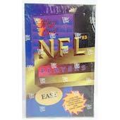 1993 Wild Card Football NFL East Hobby Box (Reed Buy)