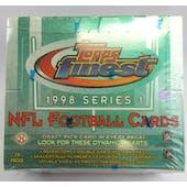 1998 Topps Finest Series 1 Football Hobby Box (Reed Buy)