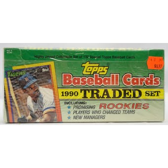 1990 Topps Traded & Rookies Baseball Retail Set (Reed Buy)