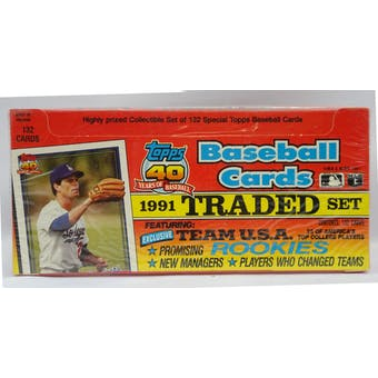 1991 Topps Traded & Rookies Baseball Retail Factory Set (Reed Buy)