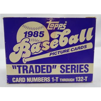 1985 Topps Traded & Rookies Baseball Factory Set (Tape Intact) (Reed Buy)