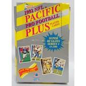 1992 Pacific Plus Series 1 Football Wax Box (Reed Buy)